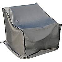 Funda / Cover / Protectora para Sofá | 86 x 178 x 90/61 cm (L x A x A) | Gris | Resistente al Agua | SORARA | Poliéster (UV 50+) | Para exterior Muebles de Jardín, Terraza, Patio