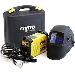 Poste a souder inverter numerique VITO 140 + Cagoule LCD VITO 9/13 Soudure à l'arc Acier-fonte-inox