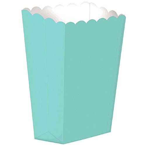 Amscan, 10-teilig, Popcorn-Box, Robin's Egg Blue
