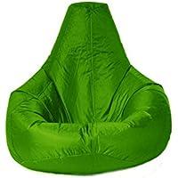 Sillón reclinable y Tamaño Grande para exteriores e interiores XXL para puf verde lima - Puff (agua y resistente a la intemperie)