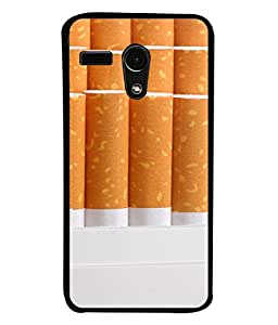 FUSON Designer Back Case Cover for Motorola Moto G :: Motorola Moto G (1st Gen) :: Motorola Moto G Dual (Cigarettes Case White Tobacco Foreign Lighter Light)