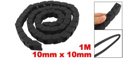 Machine Tool 10 x 10 mm chaîne à frein Towline en plastique-Noir - 39 cm