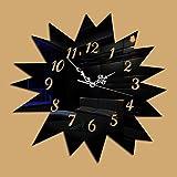 GJ-L'arrière-plan d'ameublement moderne horloge murale miroir,black...