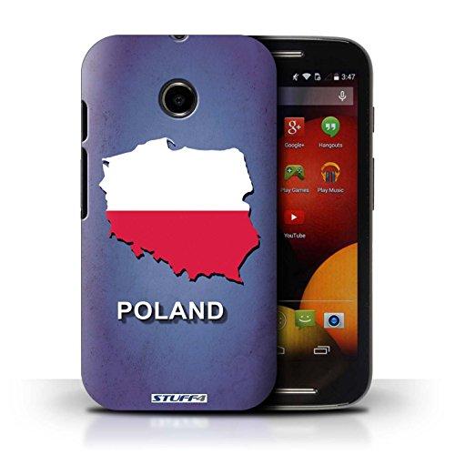 Kobalt® Imprimé Etui / Coque pour Motorola Moto E (2014) / Suède/Suédois conception / Série Drapeau Pays Pologne/Polonais