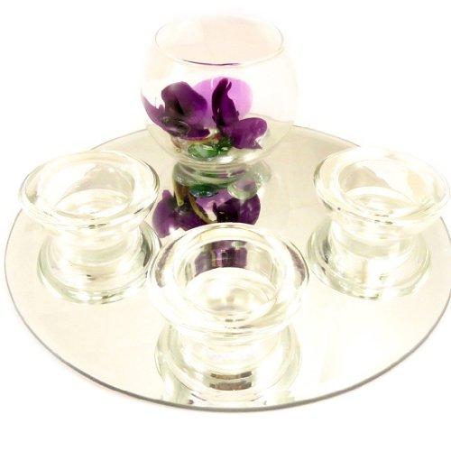 """Set velas flotantes """"Belle De Soie""""espejo (púrpura)."""