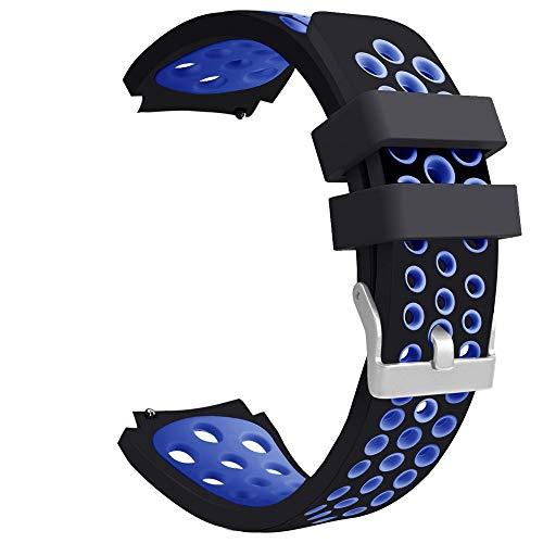 Vamoro Doppelte Farbe Sport-Silikonarmband-Armband für Samsung Galaxy Watch 46mm Silikonband Ersatz Uhren-Armband Ersatzband(G)
