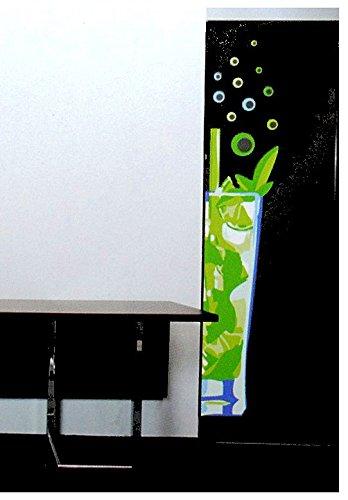 Unbekannt 15 TLG. Set XL Wandsticker Cocktail Mojito Wandtattoo Cocktailglas Cocktails Aufkleber Wandaufkleber - selbstklebend für Wohnzimmer und Kinderzimmer Deko Stic..