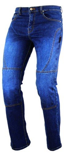 Damenhose Jeans Moto Protektoren Genehmigt Aramid Verstärkungen Blau 32
