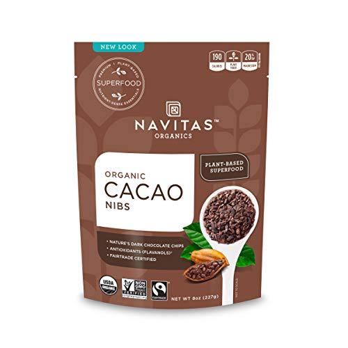 Navitas Organics Cacao Nibs, 227 g Bag, Organic, Fair Trade, Gluten-Free