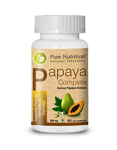 Pure Nutrition Papaya Complete - 640 mg (Unterstützt Thrombozytenimmunität & Verdauung) - 60 Veg-Kapseln -