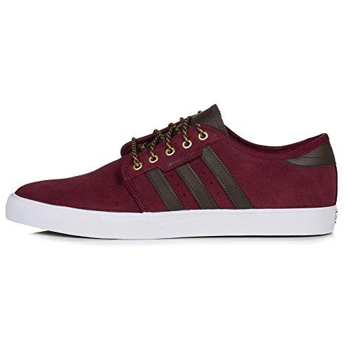 adidas Herren Seeley Skateboardschuhe, Rot (Collegiate Burgundy/Brown/Footwear White), 44 EU