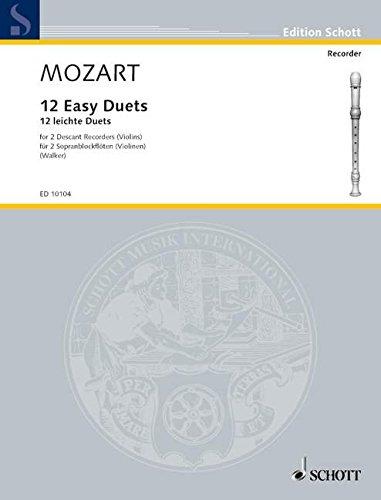Douze duos faciles KV 487 - 2 flûtes à...