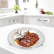 Xirfuni Rete per griglia, Rete per griglia Multiuso, Cucina Resistente e Pratica Rotonda da Campeggio per Homr
