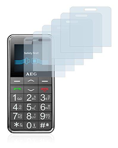 Savvies Schutzfolie für AEG Voxtel SM250 [6er Pack] - klarer Displayschutz