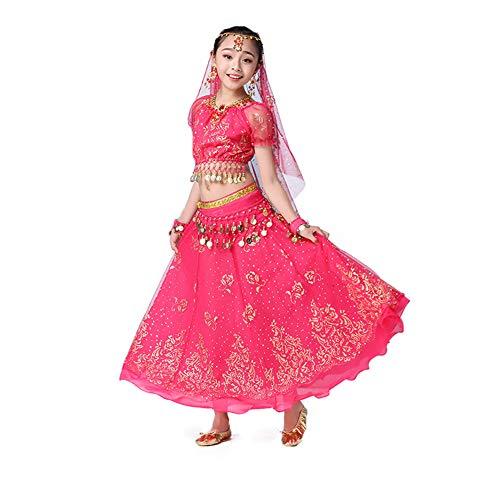 JIE. Kindertag Indian Dance Kostüme Mädchen Mädchen Xinjiang ethnischen Bauchtanz Performance (Ethnischen Kostüm Für Mädchen)