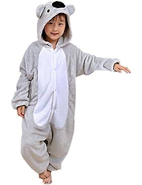 ECHERY Unisex Niños Mono Pijama de dibujos animados ropa de dormir de Animales Cosplay Disfraz de Koala
