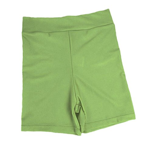 Baoblaze Damen Elastisch Shorts Kurze Hose Hot Pants Sporthose Jogginghose Fitness Sportbekleidung - Hellgrün, L