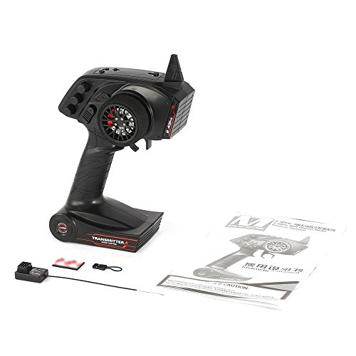 JesseBro AX5S 2.4G 3CH Radio Remote Control Transmitter with Receiver for RC Car Boat Black -