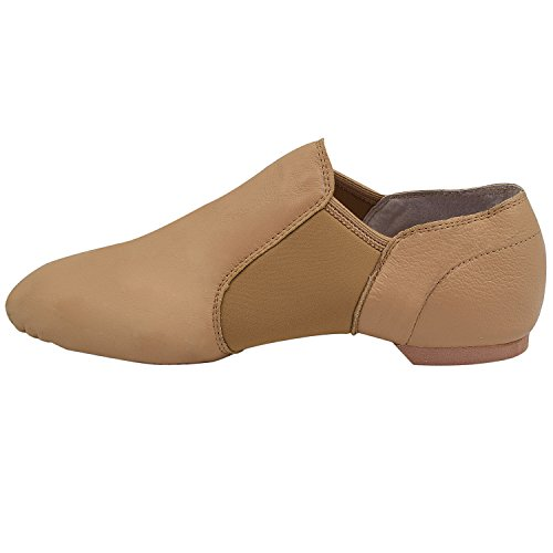 Oasap Adult Slip-on Jazz Dance Shoes apricot