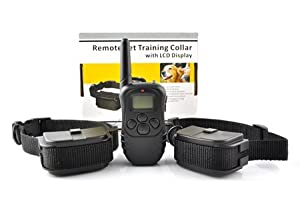 Battery--World Anti Bark Static Shock 1 for 2 Dog Training Collar of 300 meters range with Adjustable Sensitivity Control (Static shock/Vibration/Beep/Light) -- Stop Dog Barking and keep Peace and Quiet for Self & Neighbours from Battery-World