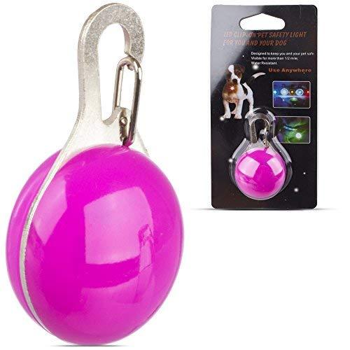 isible Hund Katze Sicherheits Schnalle Klammer Anhänger mit LED Blitzen Licht. Lila ()
