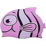 Novicz SWM-PRC-112015-202-3 Swimming Cap, Kids (Pink)