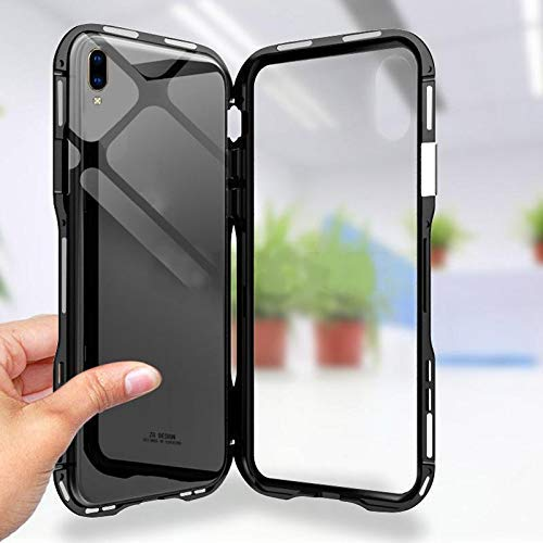 pick up 2160a 48a95 Coverswale Metal Frame Magnetic Glass Back Cover for Samsung Galaxy A50  (Black)