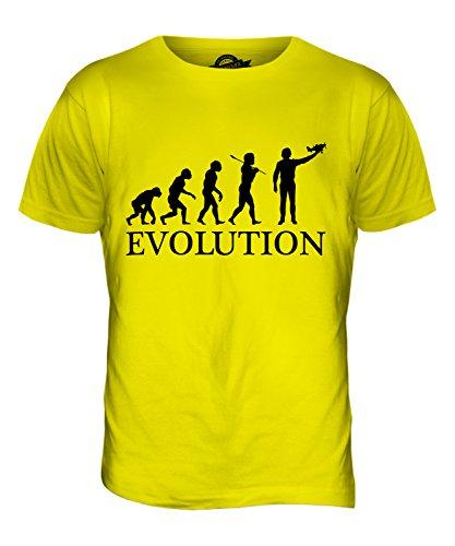 CandyMix Flugzeug Modell Evolution Des Menschen Herren T Shirt Zitronengelb
