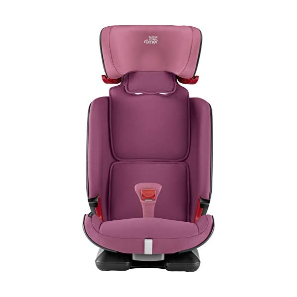 Britax Römer ADVANSAFIX IV M Group 1-2-3 (9-36KG) Car Seat- Wine Rose Britax Römer Our patented pivot link isofix system directs the force first downward into the vehicle seat, and then forward more gently - greatly reducing the risk of head and neck injury for your child We believe that a 5-point harness is the safest way to secure your child in a car seat because it keeps your child safe and tight in the seat's protective shell Soft neoprene performance chest pads fit comfortably on your child's chest. They help reduce your child's movement in the event of a collision, and add even greater comfort to the 5-point harness 6