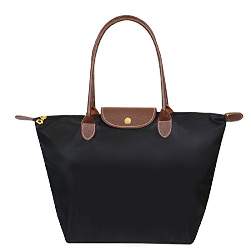 spg-london-stylish-nylon-tote-shoulder-women-bag-suitable-for-work-travel-and-other-occasions-black