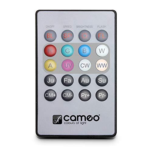 Cameo Light CLPFLAT1REMOTE Infrarot Fernbedienung für Flat PAR CAN Scheinwerfer - Cr2025 Button