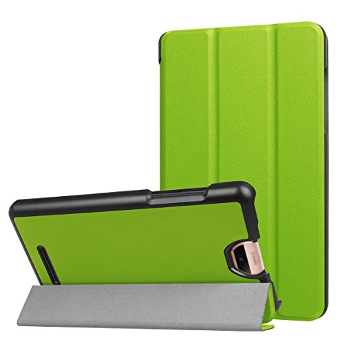 ERLI Acer Iconia Talk S (A1-734) Hülle Case, Ultra Dünn Tri-Fold Smart-Muschel PU Leder Schutzhülle für Acer Iconia Talk S (A1-734) 7.0 Zoll Android Tablet ,mit Auto Schlaf / Wach Funktion (Grün)