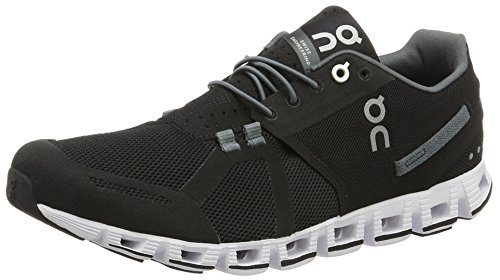 On Running Herren Cloud Black/White M 10.5 Laufschuhe, Schwarz (Black/White), 44.5 EU