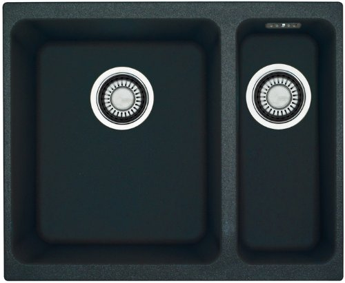 Franke Kubus KBG 160 1250023789 – Fregadero (material Fragranite DuraKleen Plus), montaje bajo encimera, color negro