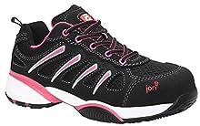 JORI jo_FIT Lady Low S1P, Chaussures de sécurité femme - Noir - Noir, Taille 38 EU