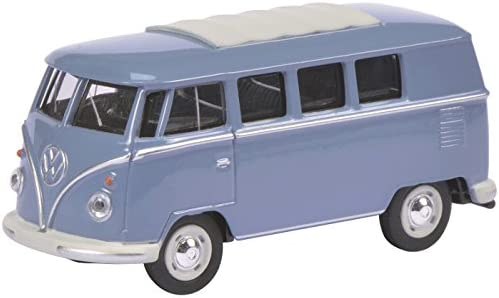 1951 VW T1 Bus [Schuco 452010500], Blue, 1:64 Die Cast | Larges Variétés