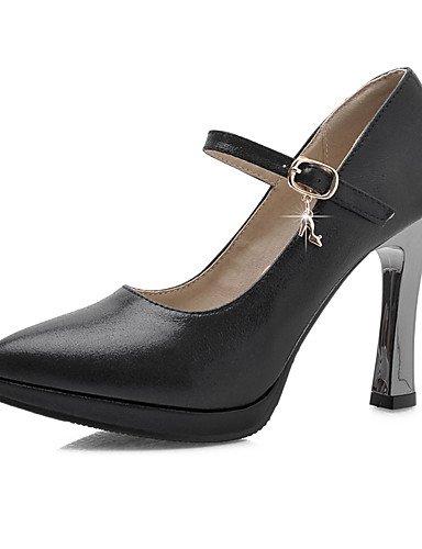 WSS 2016 Chaussures Femme-Bureau & Travail / Décontracté-Noir / Bleu / Argent / Or-Gros Talon-Talons / Bout Pointu-Talons-Polyuréthane blue-us10.5 / eu42 / uk8.5 / cn43