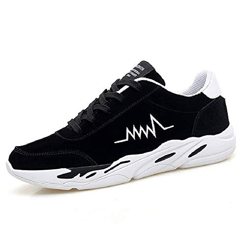 HAIYUGUAGAO Herren Sneakers, Leichte Shock Absorption Anti-Rutsch-Wanderschuhe Laufschuhe Casual Herren Wanderschuhe (Color : Schwarz, Größe : 39) -