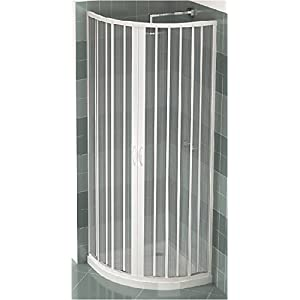 PVC extensible de ducha semicircular apertura central sola puerta 80/90