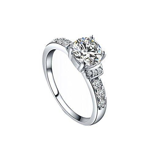 joyliveCY 2018Fashion Pretty Hochzeit Finger Ring Schmuck Frau Classic Fancy Lady der üblichen Hochzeit Finger Ring UK Größe Q -