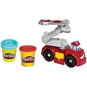 Play Doh Diggin Rigs Boomer Fire Truck Amazon Co Uk Toys