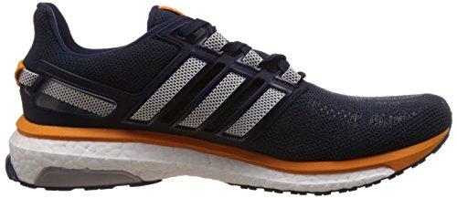 adidas Energy Boost 3, Chaussures de Running Compétition Homme Gris - Grey (Collegiate Navy/Ftwr White/Eqt Orange S16)