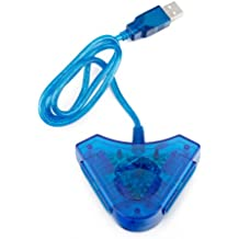 HDE PS PS2 USB Dual Controller to PC Adapter Converter by HDE