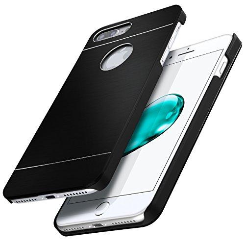 iPhone 4S Hülle Dünn Schwarz [OneFlow Aluminium Back-Cover] Schutz Handytasche Ultra-Slim Handy-Hülle für iPhone 4/4S Case Metall Schutzhülle Alu Hard-Case OBSIDIAN