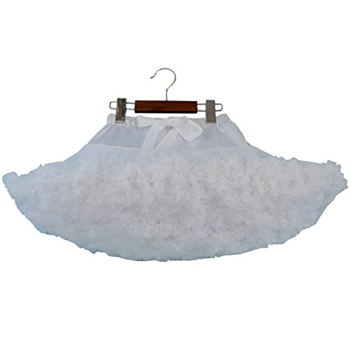 Kleinkind-Mädchen-Tulle-Petticoat-Ballerina-Tutu-Rock 2-4 Jahre / S, Weiß