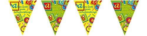 Set Einschulung 7 tlg. Girlande Wimpelkette Folienballon etc. Schulanfang - 7