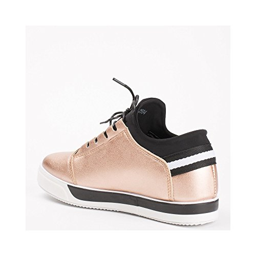 Ideal Shoes ,  Sneaker donna Champagne