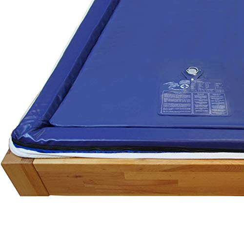 Traumreiter Wasserbettmatratze Dual 100x220cm Für 200x220 cm Wasserbett 100{6c3cc5ca91de9226fb86be05c84a01aae828bba21ebcd95f7c82bd87da8b3ce0} voll beruhigt MESAMOLL 2 Softside Wassermatratze Wasserkern-Matratze