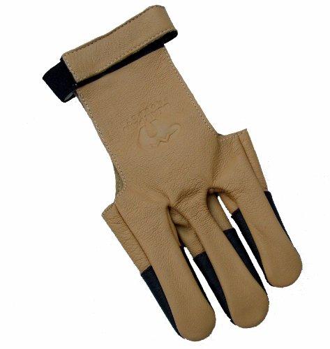 Neue 100% Soft-Ziegenleder Bearpaw Bogenschiesshandschuh Recurve Compound Bogen (groß)