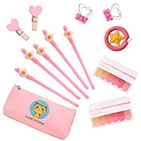 Pink Writing Pens Stationery School Supplies Accessories for Girls, Cool Things Novelty Pen Stationaries for Kids Party Gift